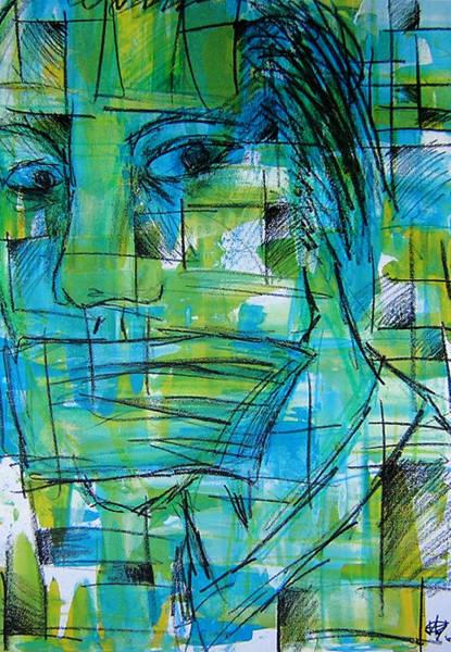 Influence Drawing - Mmmph by Jera Sky