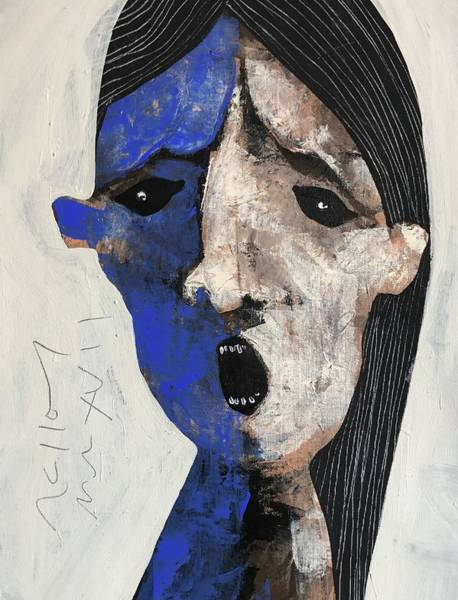 Surrealist Painting - Mmxvii Expressions No 7 by Mark M Mellon