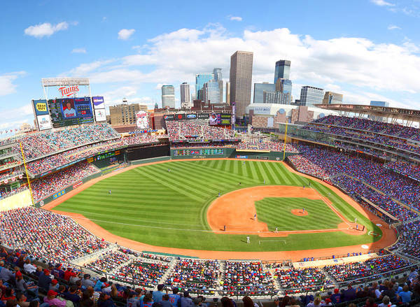 Twins Photograph - Mn Twins Target Field by Michael Klement