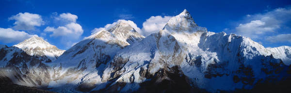 Wall Art - Photograph - Mnts Everest & Nuptse Sagamartha by Panoramic Images