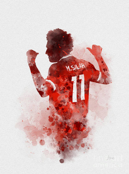 Mo Wall Art - Mixed Media - Mo Salah by My Inspiration