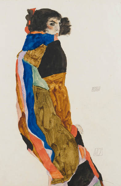 Expressionism Drawing - Moa by Egon Schiele