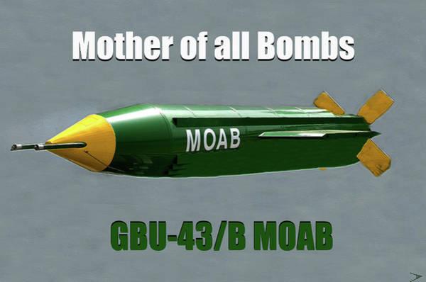 Destructive Painting - Moab Gbu-43/b by David Lee Thompson