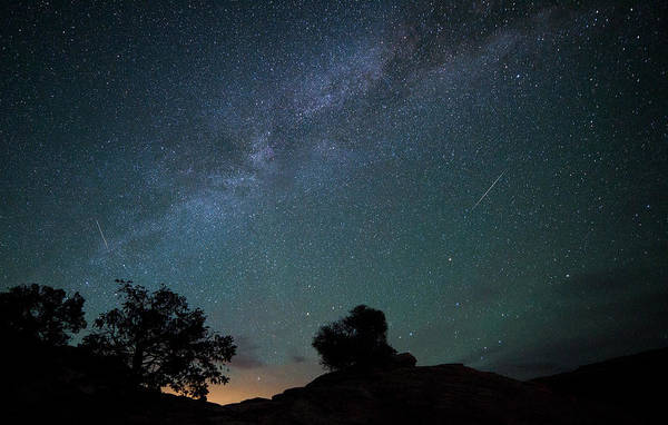 Photograph - Moab Meteors by Darren  White