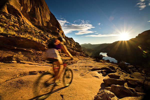 Photograph - Moab Mountain Biking by Whit Richardson