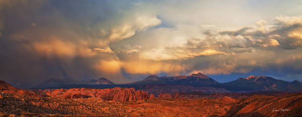 Photograph - Moab Sunset Panorama by Dan Norris