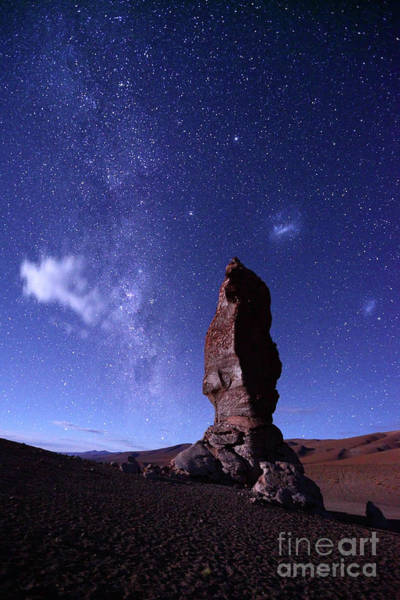 Photograph - Moais De Tara Milky Way And Magellanic Clouds Chile by James Brunker