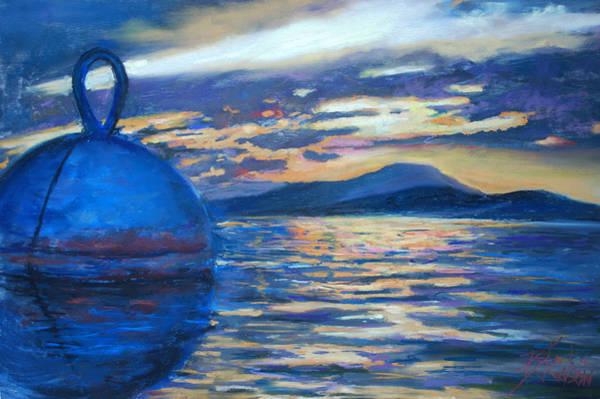 Us Virgin Islands Painting - Moaring Ball Overlooking St. John by Billie Colson