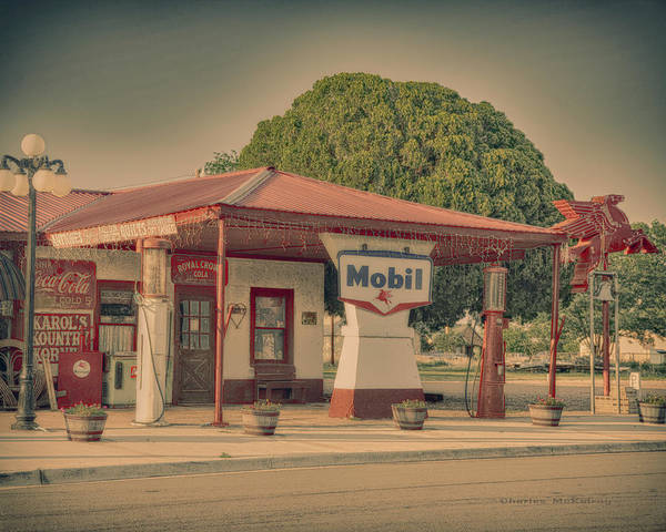 Photograph - Mobil Gas by Charles McKelroy