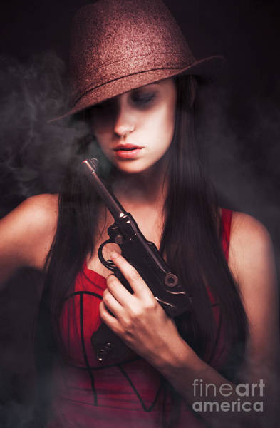 Sultry Photograph - Mobster Toting A Gun by Jorgo Photography - Wall Art Gallery