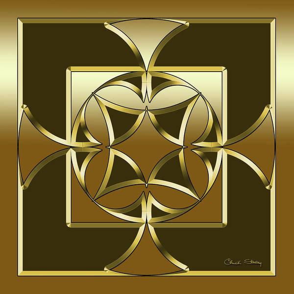 Digital Art - Mocha 1 - Square by Chuck Staley