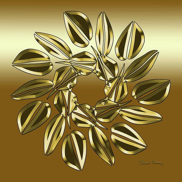Digital Art - Mocha 2 - Square by Chuck Staley