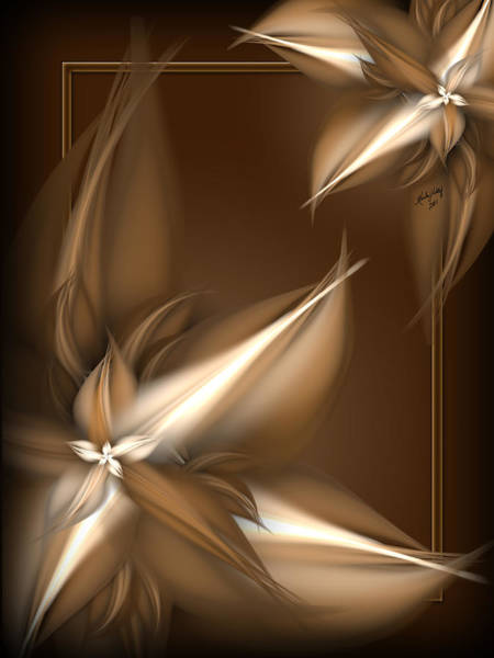 Digital Art - Mocha Cream Swirl by Karla White