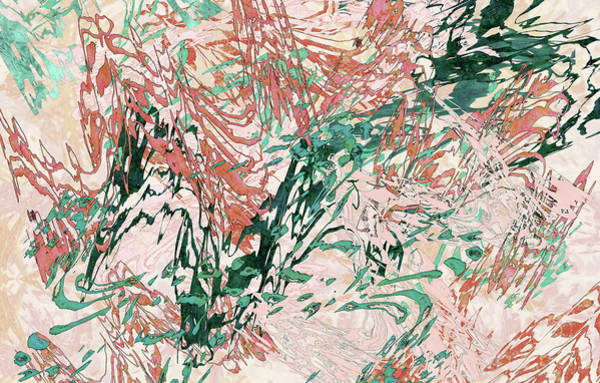Mixed Media - Mock Floral Blush Abstract by Kristin Doner