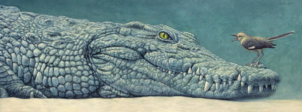 Painting - Mockin' A Croc by James W Johnson
