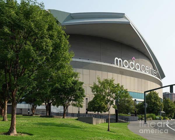Photograph - Moda Center Portland Trail Blazers Basketball Arena Portland Oregon Dsc6420 by Wingsdomain Art and Photography