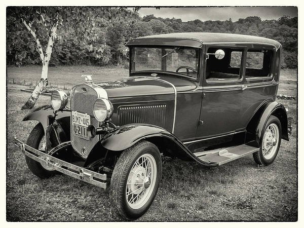 Wall Art - Photograph - Model A Ford In Monochrome by Andrew Wilson