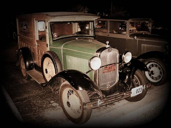 Photograph - Model A Ford Wood Panel Delivery by David Dunham