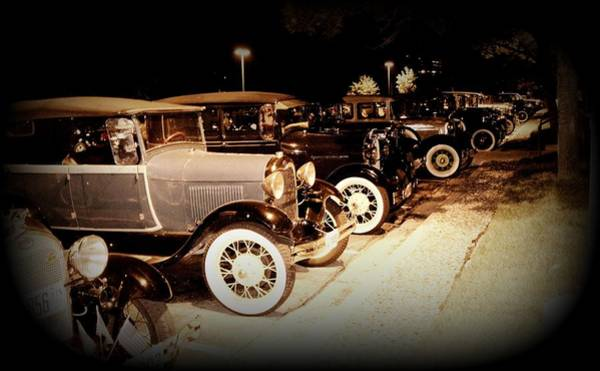 Photograph - Model A Fords All Lined Up by David Dunham