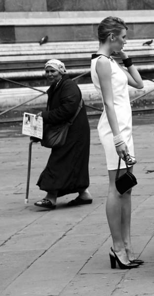 Duomo Di Firenze Wall Art - Photograph - Model And Beggar 1b by Andrew Fare