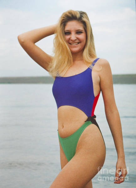Photograph - Model In A Colorful Swimsuit by Steve Krull