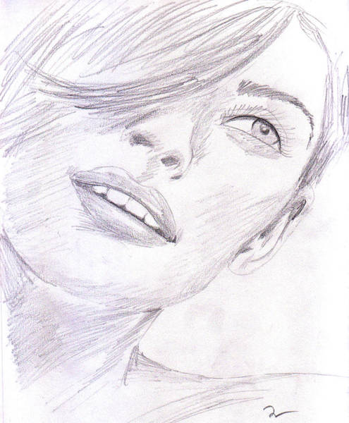 Drawing - Model by M Valeriano