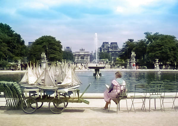 Photograph - Model Sailboat Basin, Paris by Richard Goldman