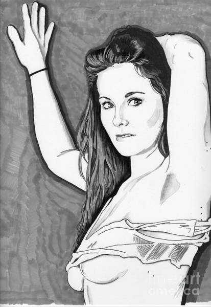 Drawing - Model Shanna by Bill Richards