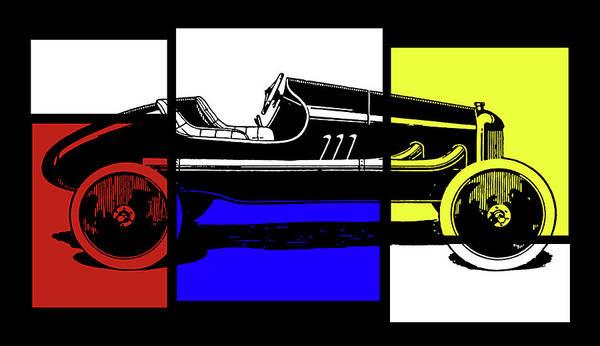 Digital Art - Model T Ford Racer Pop Rby by David King