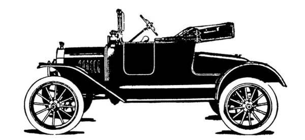 Digital Art - Model T Roadster Pop Art Black by David King