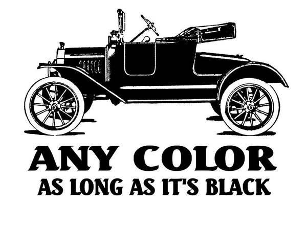 Digital Art - Model T Roadster Pop Art Black Slogan by David King