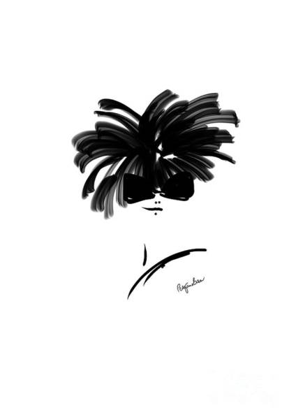 Hairdo Digital Art - Model With New Hairdo by Peta Brown