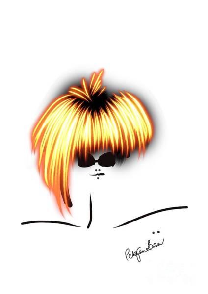 Hairdo Digital Art - Model With The Golden Hair by Peta Brown