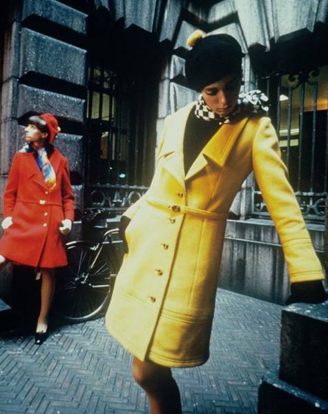 Photograph - Models In Colorful Coats by David McCabe