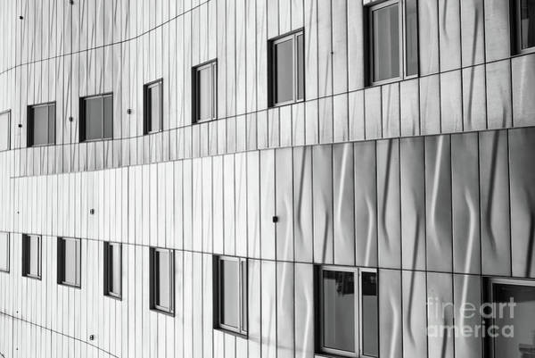 Photograph - Modern Architecture Nyc Black And White by Edward Fielding