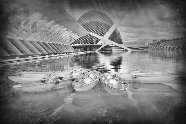 Arte Photograph - Modern Architecture Valencia Spain In Black And White by Carol Japp