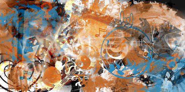 Background Mixed Media - Modern-art Beyond Control II by Melanie Viola