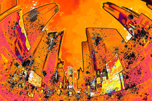 Wall Art - Photograph - Modern Art Nyc Times Square II by Melanie Viola