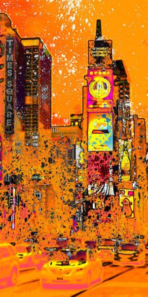 Wall Art - Photograph - Modern Art Nyc Times Square IIi by Melanie Viola