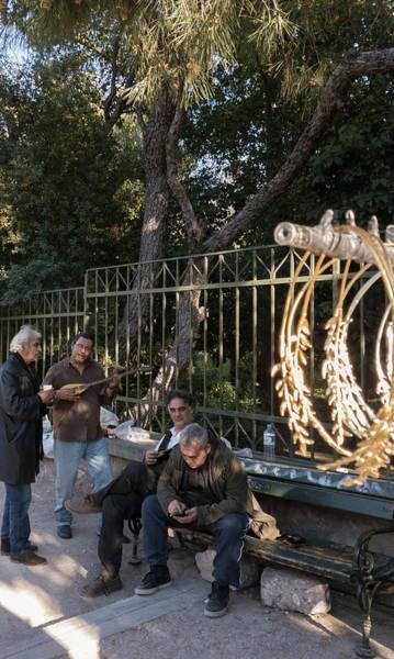 Wall Art - Photograph - Modern Athenian Musicians by Iordanis Pallikaras