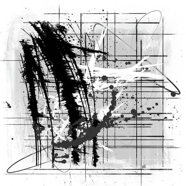 Wall Art - Digital Art - Modern Black And White by Melissa Smith