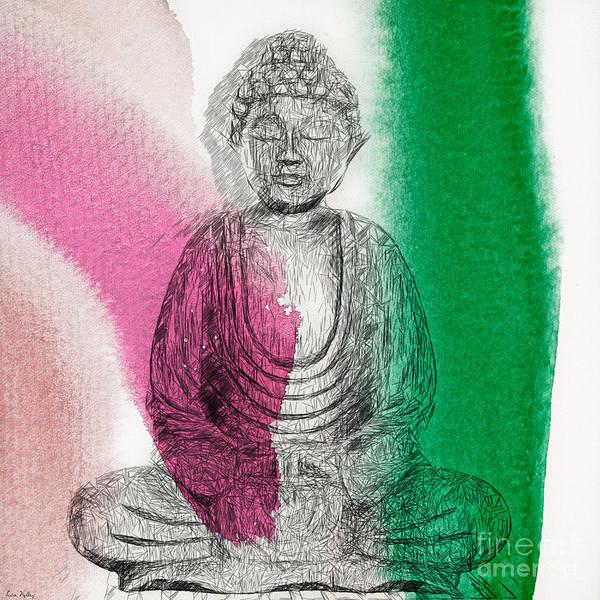 Painting - Modern Buddha by Lita Kelley