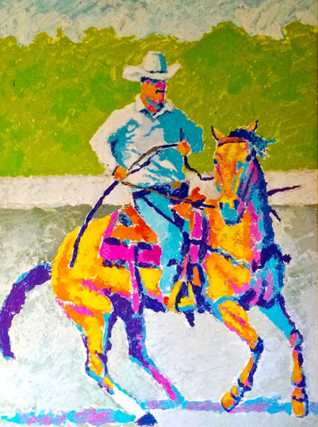 Drawing - Modern Cowboy by Bern Miller