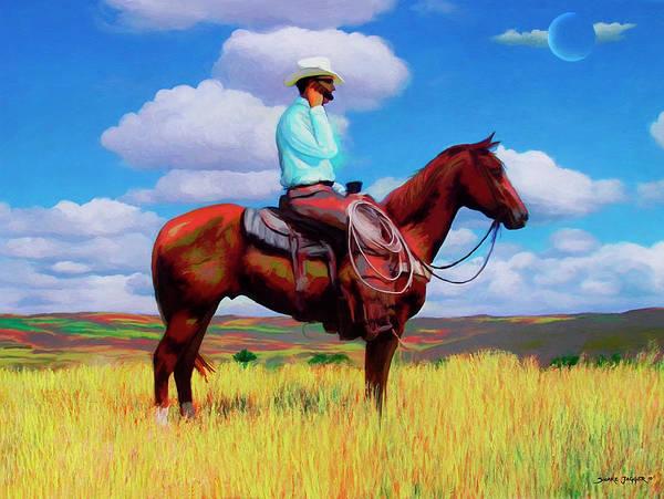 Southwest Digital Art - Modern Cowboy by Snake Jagger