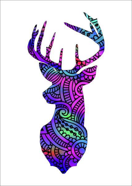 Antlers Digital Art - Modern Deer Pattern by Ricky Barnard