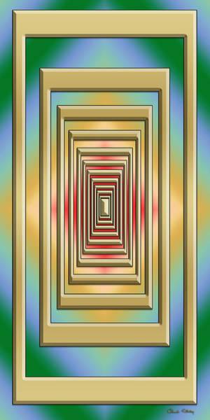 Digital Art - Modern Designs Vertical 3 by Chuck Staley