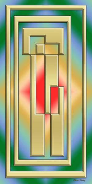 Digital Art - Modern Designs Vertical by Chuck Staley