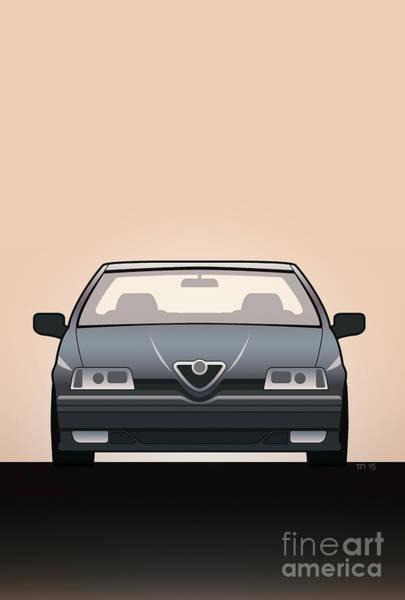 Made In Digital Art - Modern Euro Icons Series Alfa Romeo 164 Quadrifoglio Q4 by Monkey Crisis On Mars
