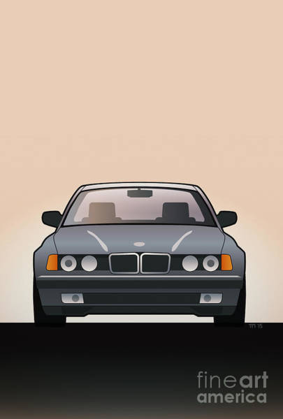 Wall Art - Digital Art - Modern Euro Icons Series Bmw E32 740i  by Monkey Crisis On Mars