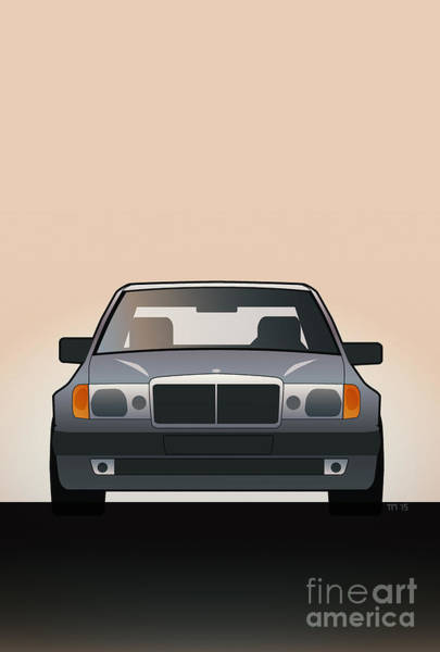 Made In Digital Art - Modern Euro Icons Series Mercedes Benz W124 500e by Monkey Crisis On Mars